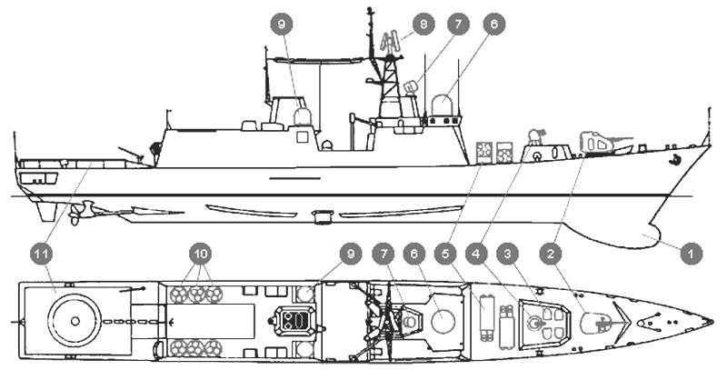 """Сторожевой корабль """"Новик"""" (проект 11441)"""