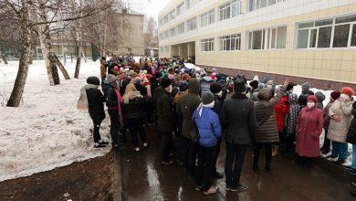 Эвакуация учеников из школы