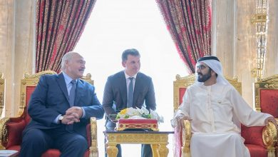 Лукашенко на переговоров с президкнтом ОАЭ