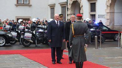 Президент Лукашенко и президент австрии