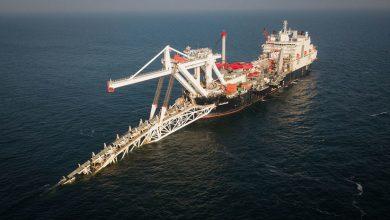 Укладчик газопровода Северный поток 2 на дно Балтийского моря