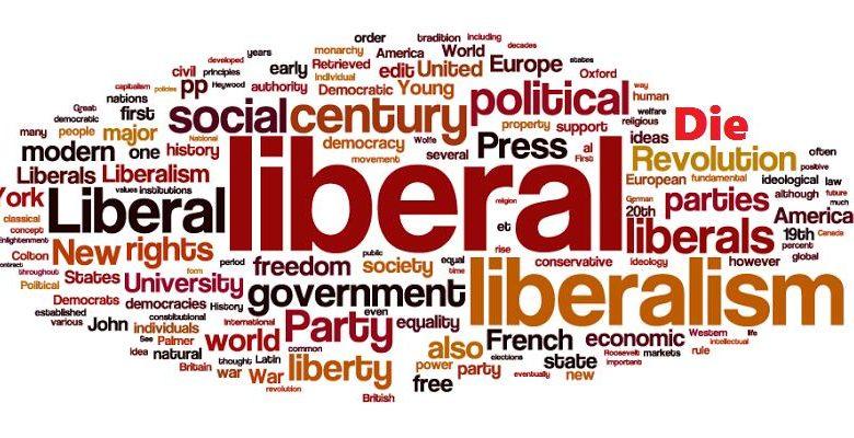 Коллаж из слова либерализм