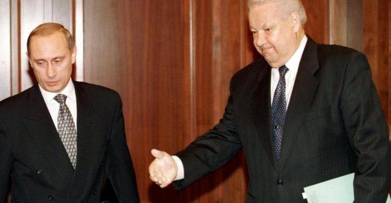 первый президент России Борис Ельцин и нынешний президент РФ Владимир Путин