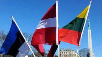 Флаги Латвии, Литвы и Эстонии
