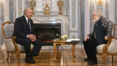 Президент Беларуси общается с журналистом из России Венедиктовым