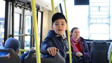 ребёнок в общественном транспорте