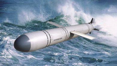 Крылатая ракета калибр в полёте над морем