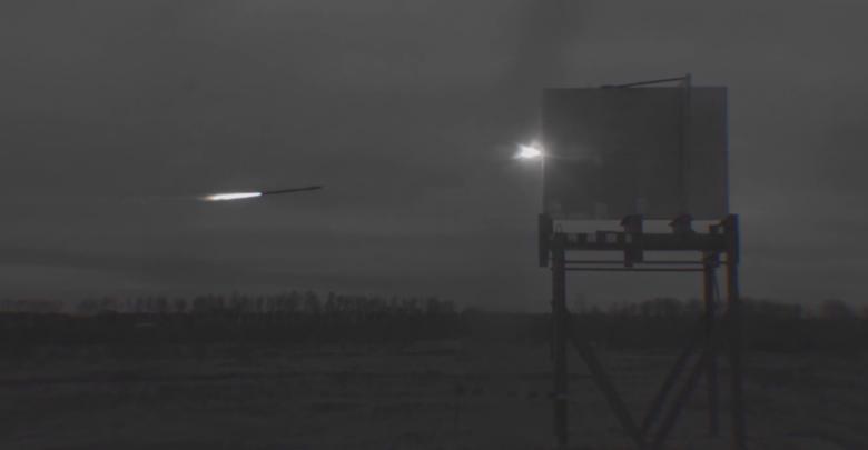 Замедленная съёмка полёта ракеты