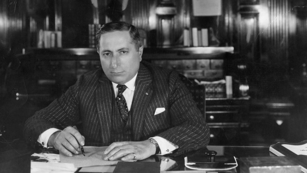circa 1935:  Russian-born American film mogul Louis Burt Mayer (1885 - 1957), head of production at MGM.  (Photo by General Photographic Agency/Getty Images)