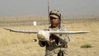 Военный запускает беспилотник Lockheed Desert Hawk III
