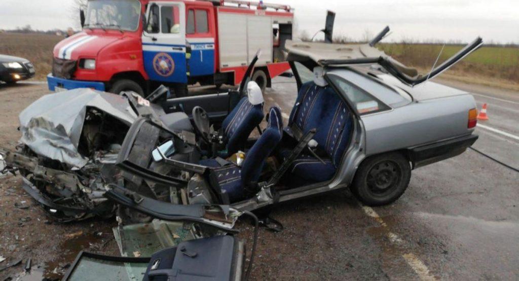 В Пинском районе столкнулись две легковушки — есть пострадавшие