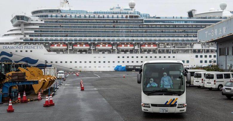 круизный лайнер Diamond Princess в Японии