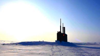 Photo of Американская подлодка всплыла сквозь лёд у российской базы в Арктике