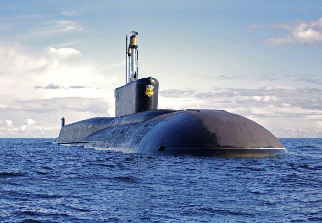 """Проект 955 баллистическая ракетоносная подводная лодка класса """"Борей"""" в море"""