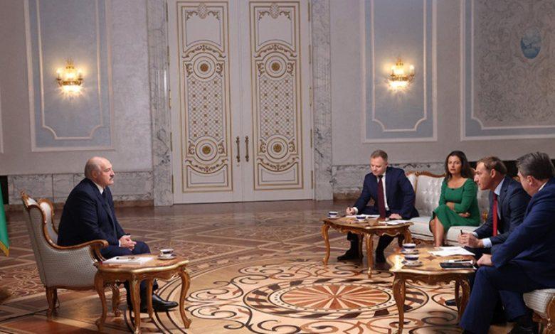 Лукашенко даёт большое интервью российским СМИ