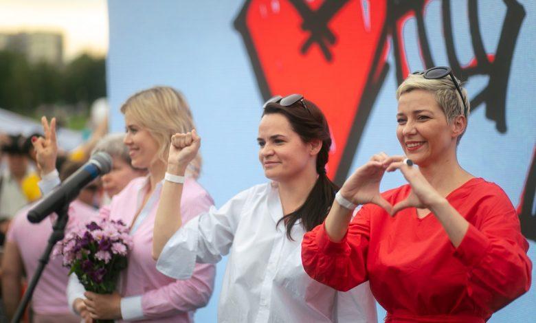 Светлана Тихановская, Вероника Цепкало, Мария Колесникова