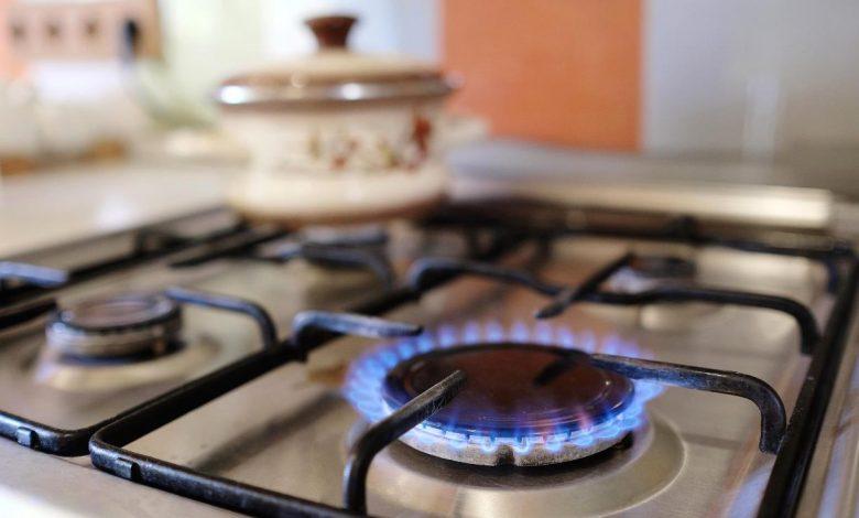 природный газ, плита