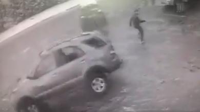 Photo of В Бобруйске пешеход «убежал» от кувыркающегося автомобиля