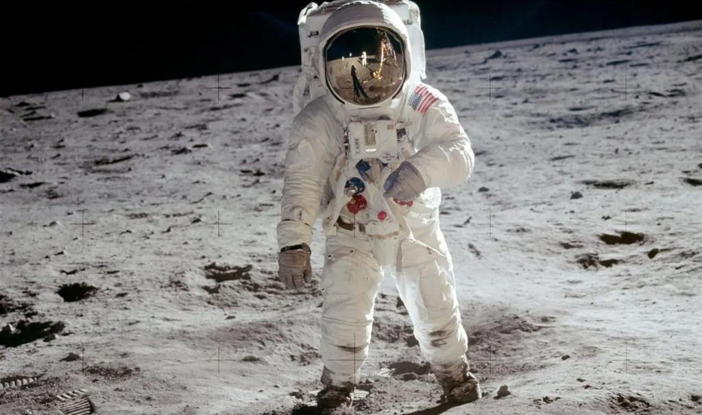 Базз Олдрин на Луне (НАСА)
