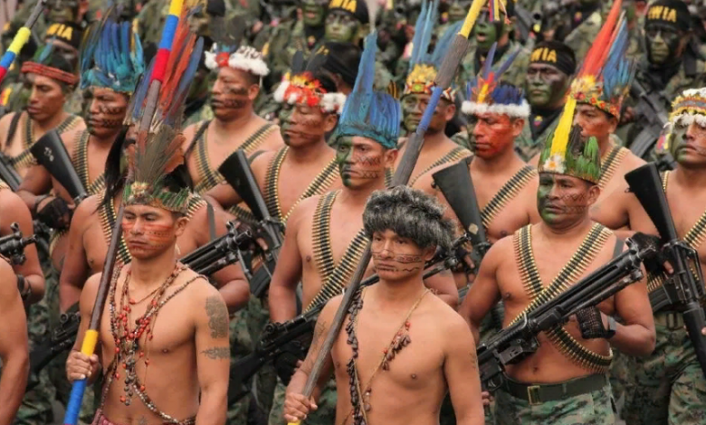 армия индейцев с оружием