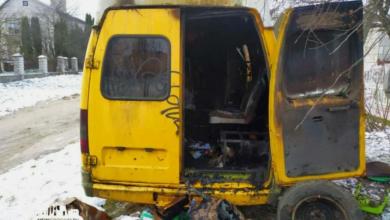 Photo of В Гродно на стоянке горел автомобиль «ГАЗель»