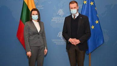 Photo of Тихановская обсудила с МИД Литвы передачу «европейской вакцины» от COVID-19