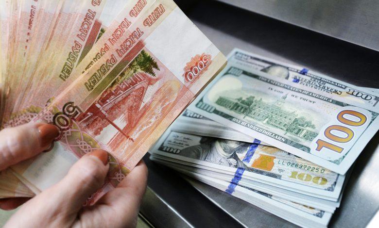 валюта, доллары, российские рубли
