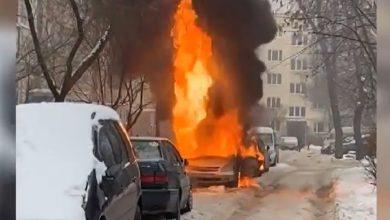 Photo of В Минске во дворе на Рокоссовского сгорел автомобиль