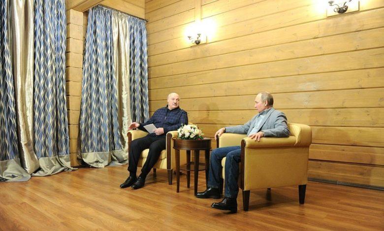 Владимир Путин и Александр Лукашенко 22 февраля 2021 года провели переговоры в Сочи