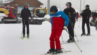 Photo of Николай Лукашенко покатался с Путиным на лыжах