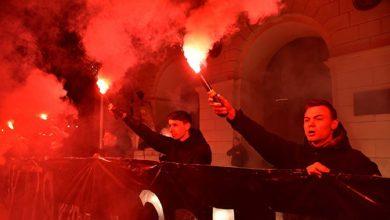 Photo of В Киеве радикалы забросали пиротехникой офис генпрокурора
