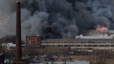 Photo of В Санкт-Петербурге горит «Невская мануфактура»
