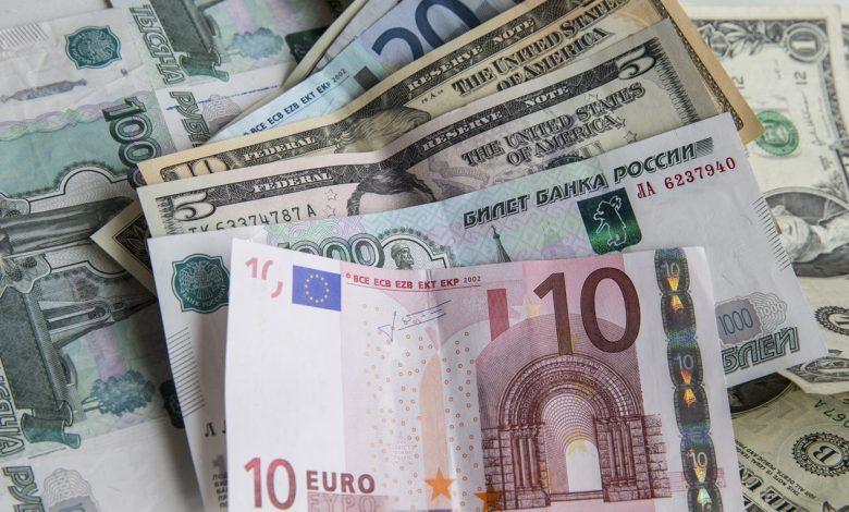 евро, доллары, валюта