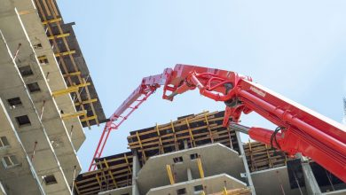 Photo of Заливка бетонной конструкции с помощью автобетононасоса