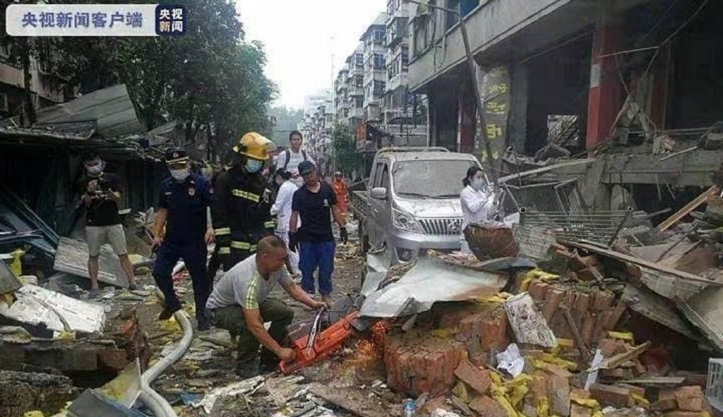 В Китае при взрыве газа погибли 12 человек