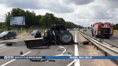 Photo of Трактор и автопоезд столкнулись возле Минска