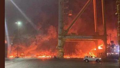 Photo of На судне в порту Дубая прогремел взрыв