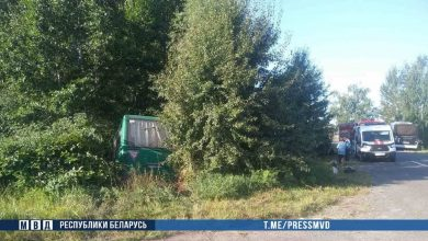 Photo of В Столинском районе автобус съехал в кювет