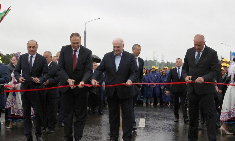 Александр Лукашенко 6 августа открыл обновленный мост Восточный через Нёман