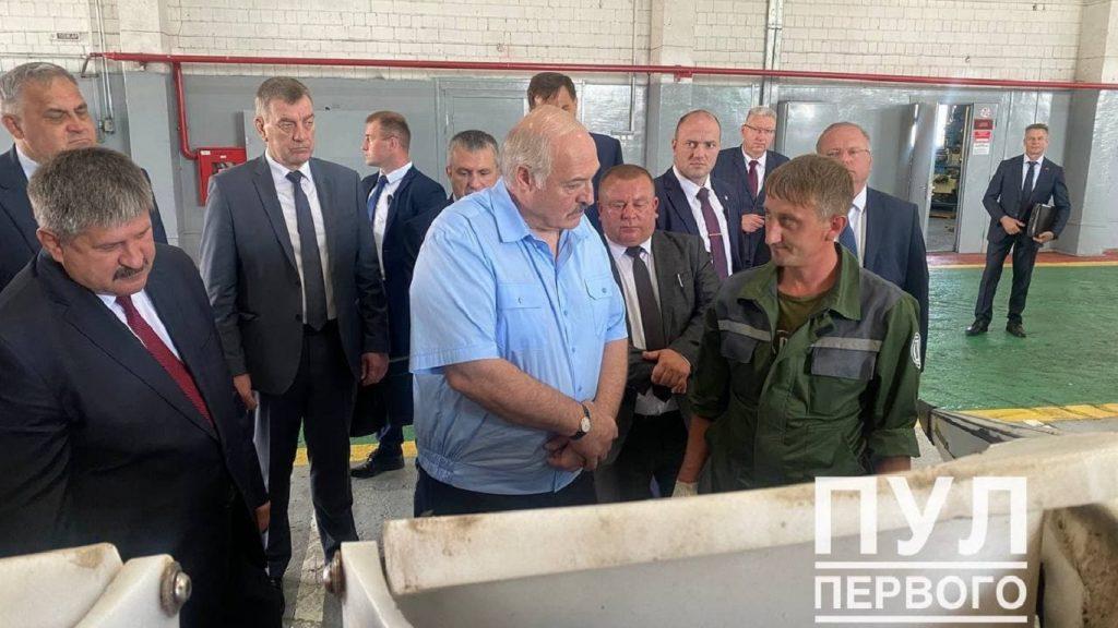 Лукашенко посещает Рогачевский район