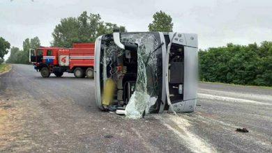 Photo of В Барановичском районе опрокинулся пассажирский автобус