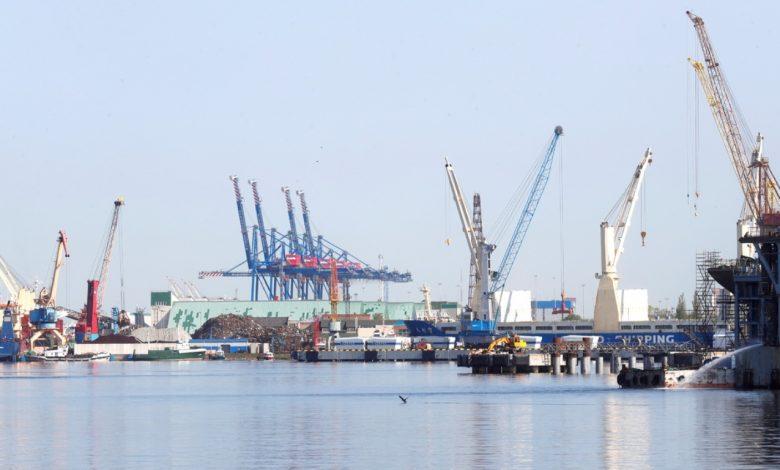 морской порт, транзит
