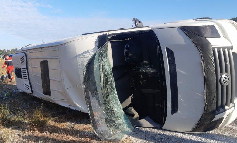 ДТП на юго-западе Турции, перевернулся туристический автобус
