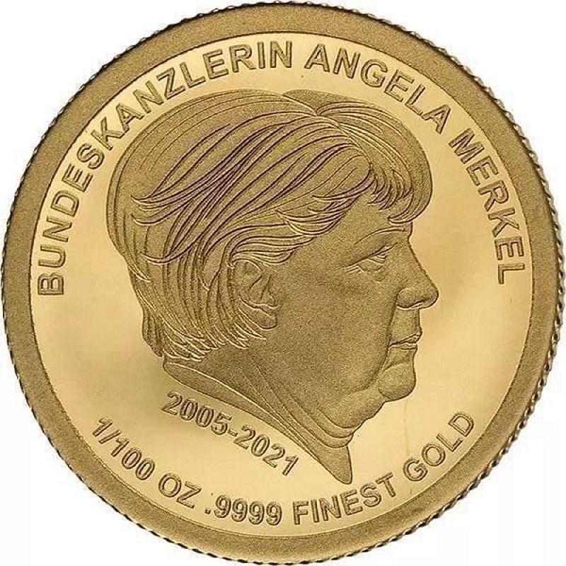 В Германии выпустили золотые монеты с портретом Меркель
