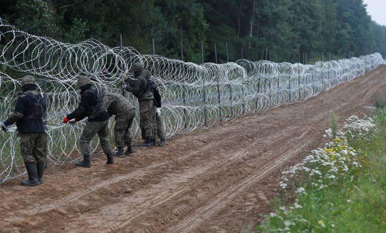 граница, колючая проволока от нелегальных мигрантов
