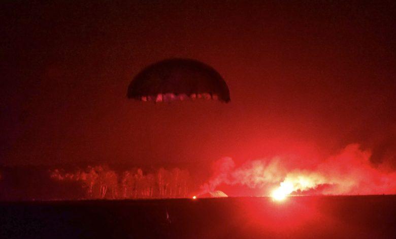 """ночное десантирование в рамках военных учений """"Запад-2021"""""""