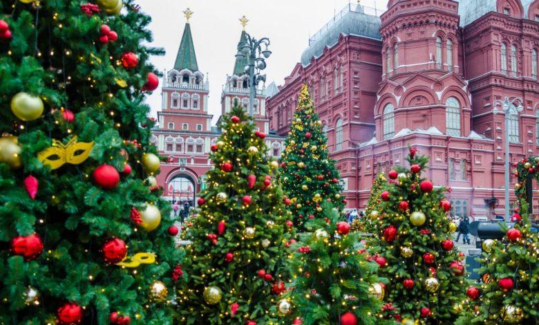 новогодние ёлки на Красной площади в Москве, новогодние каникулы