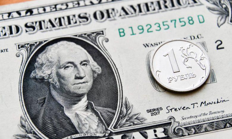 доллары, российские рубли, валюта