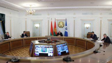 Photo of Лукашенко принимает участие в заседании Совета лидеров стран СНГ